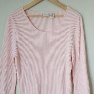 Merona pink knit sweater size XL